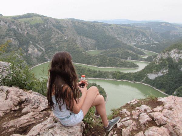 Lake in Serbia